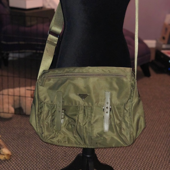 4f1ae6d57728 Prada Bags | Nwot Authentic Messenger Bag In Army Green | Poshmark